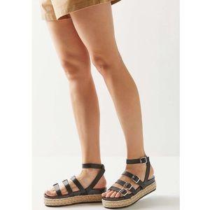 UO   Mila Platform Espadrilles Sandals 8
